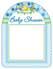 Baby shower boy frame print sheet