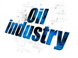 Manufacuring concept: Oil Industry on Digital background