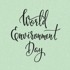 World Environment Day 5 june quote typography