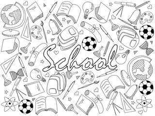 School coloring book vector