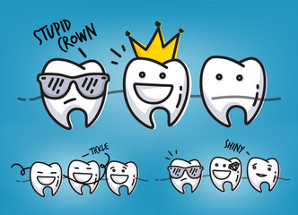 Teeth cool cartoons blue