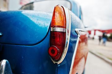 Old vintage car back headlight.