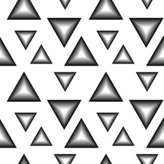 The pattern of black and white triangles