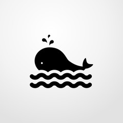 whale icon. whale sign