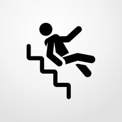 man falls icon. man falls sign