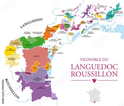 Carte Languedoc Roussillon.Carte Du Vignoble Du Languedoc Roussillon Fichier Vectoriel Libre