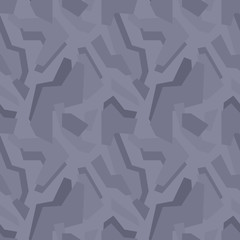 Abstract vector geometric dark-grey camouflage seamless pattern