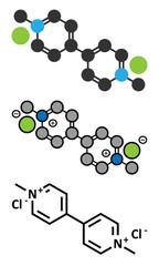 Paraquat herbicide molecule