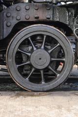 Steam Locomotive Pilot Truck Wheel / Pilot truck/landing bogie wheel on vintage 1920's steam locomotive.