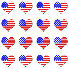 Heart shaped american flag