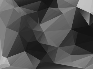 abstract dark gray polygonal illustration background