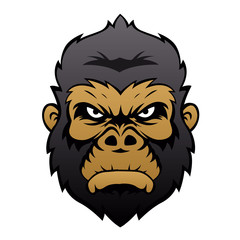 Gorilla Head Cartoon.