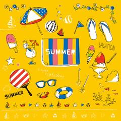 夏素材セット 黄色