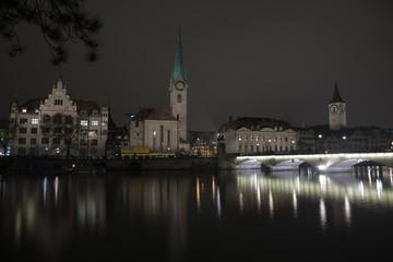 Amazing night scenes from Zurich, Switzerland