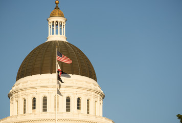 Downtown Sacramento California Capital Dome Building