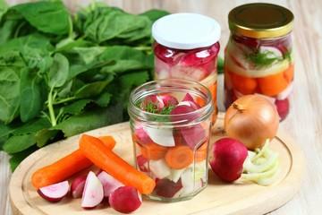 Fermented radish & carrot