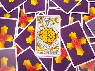 Tarot cards Tarot, the wheel of fortune card
