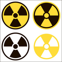 Radiation sign, symbol of danger. Vector image.