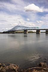Clouds Past Pioneer Memorial Bridge Columbia River Kennewick