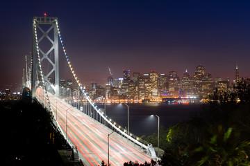 Bay Bridge Rush Hour Traffic San Francisco Transportation