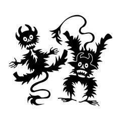 Halloween set of illustrations