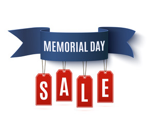 Big Memorial Day sale background template.
