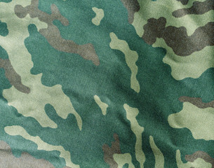 Abstract camouflage cloth texture.