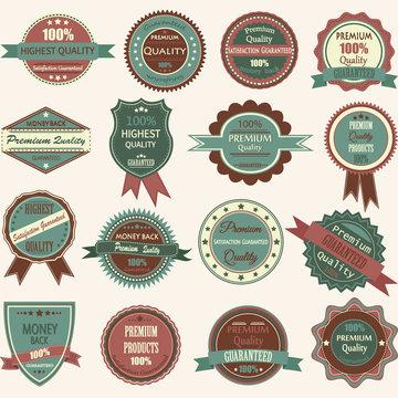Vintage Badge Label Frame.Premium Badge,Logo,Ribbon collections