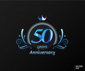Symbols celebrating anniversary with concept of luxury