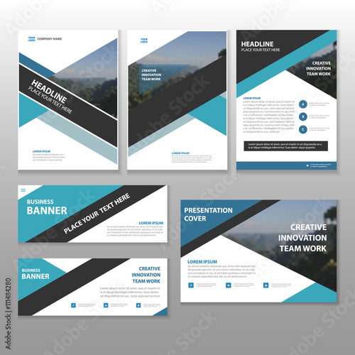 Blue black Multipurpose corporate business proposal brochure flyer ...