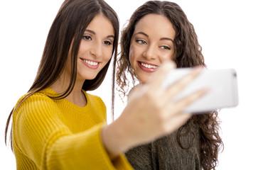 Girls taking selfie