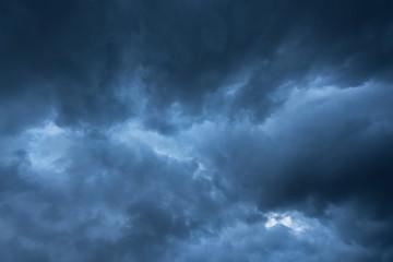Closeup dark storm cloud before rainy