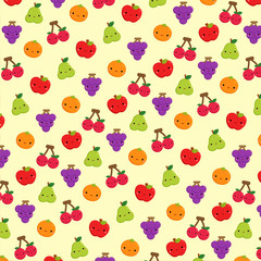 Cute Fruit Icon Background