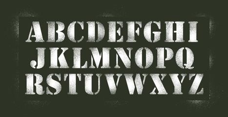 Alphabet au pochoir