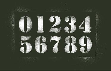 Numéros au pochoir