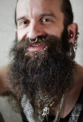 friendly smiling bearded Face