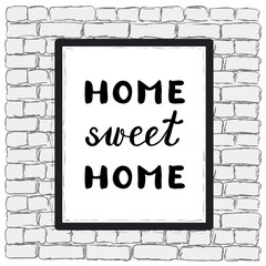 Home sweet home. Brush hand lettering.