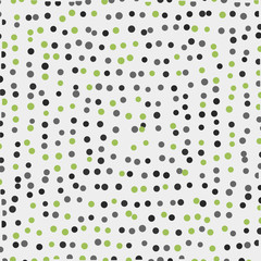 Light background with small polka dots.