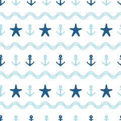 Nautical seamless pattern.