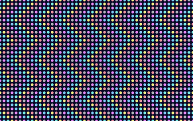 Wave series colored dots. Seamless vector pattern.