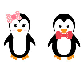 penguin girl and boy