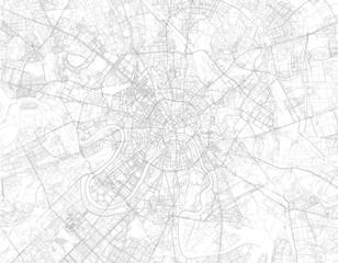 Mappa di Mosca, vista satellitare, strade e vie, Russia