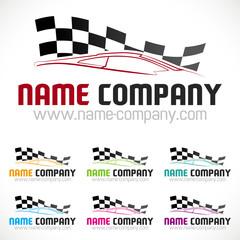 logo course automobile voiture