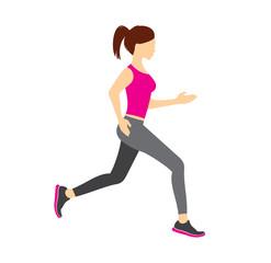 Running girl vector illustration