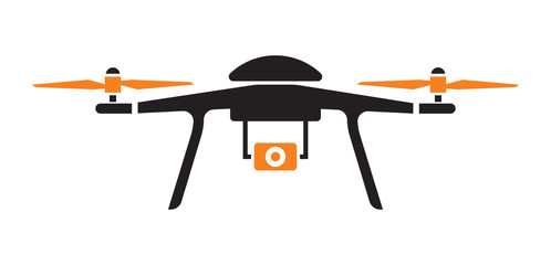 Drone icon Wall mural