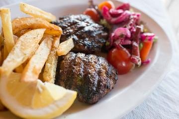 Greek food, Korfu, Greece