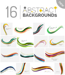 Color stripes with shiny light effects, wave line abstract background