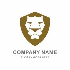Lion Head Animal Vector Logo Template