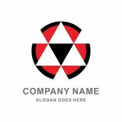 Geometric Triangle Circle Crystal Vector Logo Template