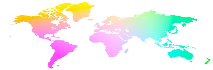 Pianeta Terra 3D con colori vari